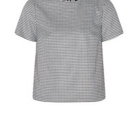 White Houndstooth T-Shirt