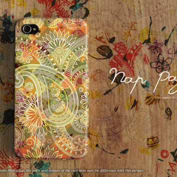 Apple iphone case for iphone iphone 5 iphone 5s iphone 5c iphone 4 iphone 4s iPhone 3Gs :Classic vintage flower with vintage pattern