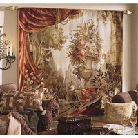 Tapestries, Ltd. Handwoven Palace Urn & Drape Tapestry - 6527 / 6533 / F7R1 - All Wall Art - Wall Art & Coverings - Decor