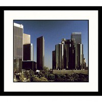 Great American Picture LA Skyline Framed Photograph - W6 - All Wall Art - Wall Art & Coverings - Decor
