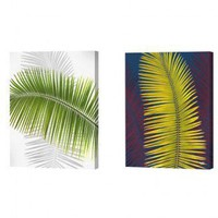 Menaul Fine Art Green and Yellow Palm Frond Limited Edition Canvas Set - Scott J. Menaul - FL1-001 / - All Wall Art - Wall Art & Coverings - Decor