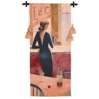 Fine Art Tapestries Le Cafe Tapestry - Dominguez - 1597-WH - All Wall Art - Wall Art & Coverings - Decor