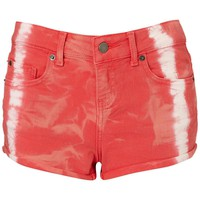 Moto - Tie Dye Red Hotpants on LoLoBu