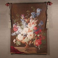 Tapestries, Ltd. Salient Blooms Brown Tapestry - 4185 / 365 / CC55R1 - All Wall Art - Wall Art & Coverings - Decor
