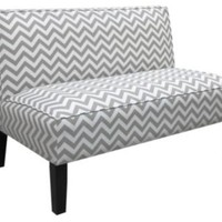 One Kings Lane - The Art of Upholstery - Gardner Armless Settee, Gray