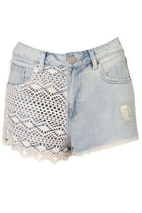 MOTO Bleach Crochet Hotpants - Picnic Treats - Collections - Topshop