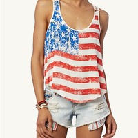 Crochet Back Flag Swing Tank