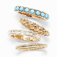 Peacock Stackable Rings