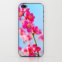 pink flowers iPhone & iPod Skin by Kristi Kaz | Society6