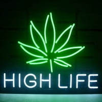 New High Life Real Glass Neon Light Sign Home Beer Bar Pub Sign L82