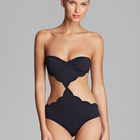 marysia Swim Scallop Cut Out Underwire Monokini One Piece Swimsuit