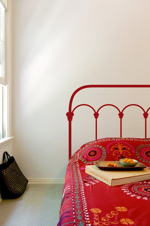 Blik Wall Decals: Wrought Iron Headboard by Mina Javid