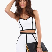 Chic Lined Bustier