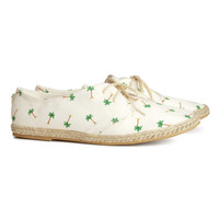 Lace-up Espadrille Shoes - from H&M