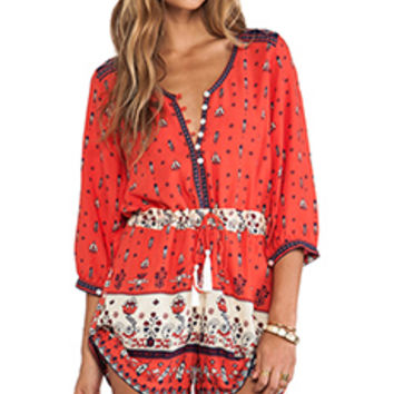Spell & The Gypsy Collective Desert Wanderer Playsuit in Red