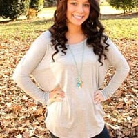 Out of the Blue PIKO Top - Gray