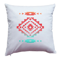 Pillow Cover With Native American Santa Fe Southwestern Design