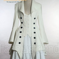 Pirate Lolita Elegant Gothic Long Tuxedo Tail Jacket