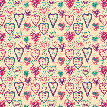 Girly Heart Doodle Art Print by Perrin Le Feuvre | Society6