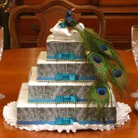 PEACOCK wedding 54 favor boxes centerpiece bridal shower party feather