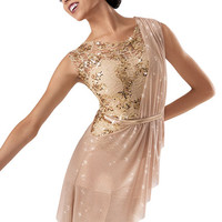 Sequin Lace Asymmetrical Biketard -Weissman Costum
