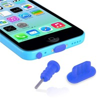 Everydaysource Compatible with Apple® iPhone® 5/ 5S/ 5C Blue Headset Dust Cap with SIM Card Eject Pin & Charging Dock Port Plug, 2-Pack