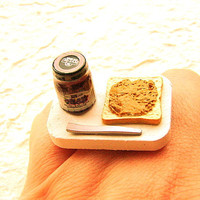 Grape Jam Peanut Butter Toast Food Ring by SouZouCreations on Etsy