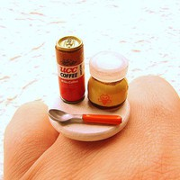 Miniature Food Ring Canned Coffee Pudding by SouZouCreations