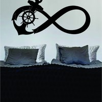 Anchor Infinity Sign Decal Sticker Wall Vinyl Art Girl Boy Teen Baby