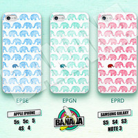 Elephant, Cute Pattern, Mint, iPhone 5 case, iPhone 5S case, iPhone 5c case, Phone case, iPhone 4 Case, iPhone 4S Case, Phone Skin, EPBE