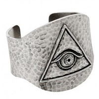Low Luv x Erin Wasson  Low Luv x Erin Wasson Evil Eye Cuff in Palladium