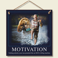Motivation Wood Wall Sign