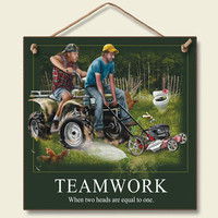 Teamwork Wood Wall Sign