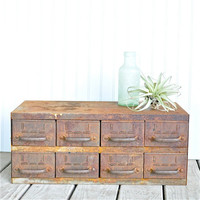Etsy Transaction - Industrial Rust 8 Drawer Cabinet