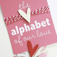 Wedding Engagement Marriage Anniversary Alphabet of by iloveitall