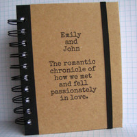 Love Journal Custom Names Notebook Handmade by Zany by zany