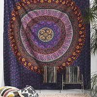 Plum & Bow Medallion Tapestry- Purple Multi One