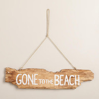 Wooden Gone To The Beach Sign - World Market