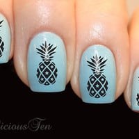 Pineapple Nail Wrap Decal for Natural or False Nails Water Transfer Ananas 21pcs ST8114