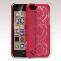 GreatShield TACT Series Design Pattern Rubber Coating Ultra Slim Fit Hard Case Cover for Apple iPhone 5C (Damask - Pink)