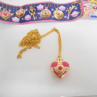 Sailor Moon Bandai Die-cast Cosmic Heart Compact Necklace Limited