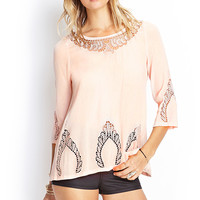 Embroidered Crochet T