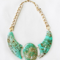 Crystal Green Bold Necklace