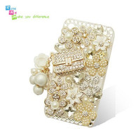 Handmade hard case back cover for iPhone 4 &amp; 4S Bling by nieleilei