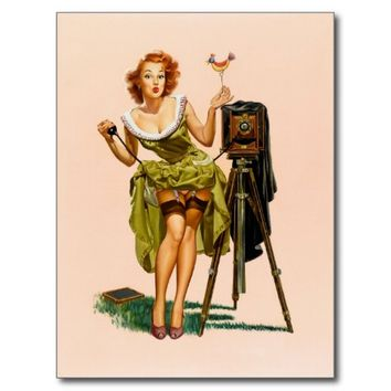 Vintage Camera Pinup girl