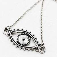 Evil Eye Necklace in Silver - Urban Outfitters