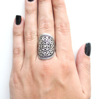 Vanessa Mooney Down The Road Shield Ring in Silver