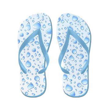 Clear Water Drops Pattern Flip Flops