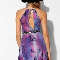 Staring At Stars Tie-Dye Knit Halter Dress - Urban Outfitters