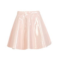 Serena High Shine Patent Skater Skirt